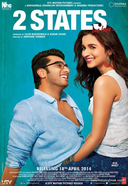 2 States is a Hindi drama, comedy-sentimental and also romance movie