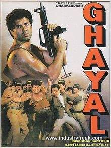 Ghayal is 14th on the list of best action movies of bollywood