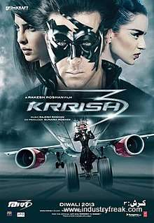 Krrish 3 is 3rd on the list of best action movies of bollywood
