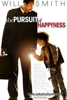 The Pursuit of Happyness is ranked number 7 in the list of top movies for entrepreneurs.