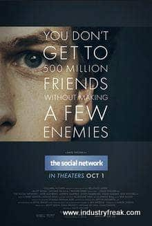 The Social Network is ranked number 1 in the list of top movies for entrepreneurs.