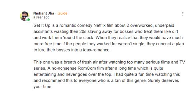 Public Review on Set It Up