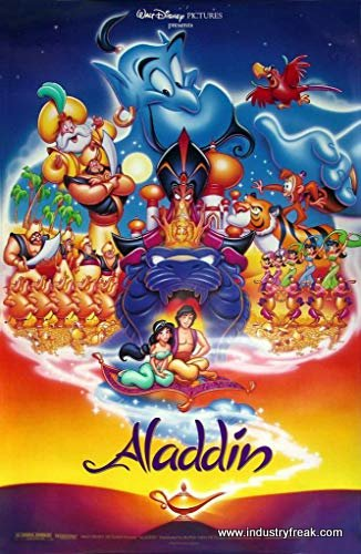 Aladdin most popular disney animated movies