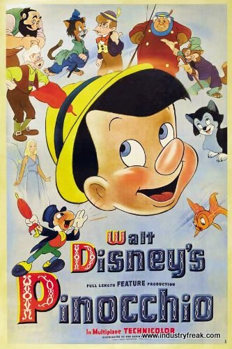 Pinocchio animated disney movies