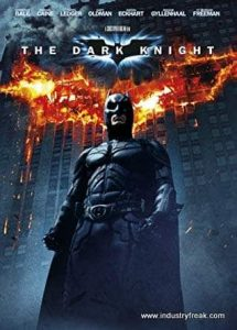 The Dark Knight ranks 7th in the list of top Hollywood action movies.