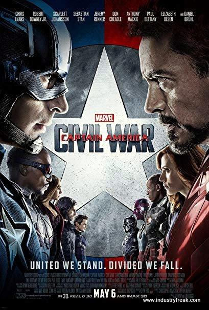 Amazing marvel film Captain America: Civil War