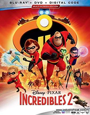 Incredibles 2 is 4th on the list of most popular animated movies.