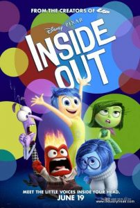 Inside Out tops of the list of most popular animated movies.