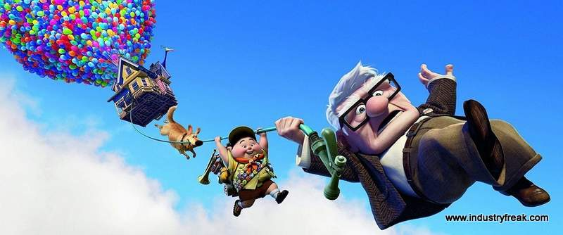 Up is 9th on the list of most popular animated movies.