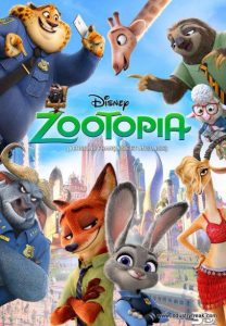 Zootopia is 5th on the list of most popular animated movies.