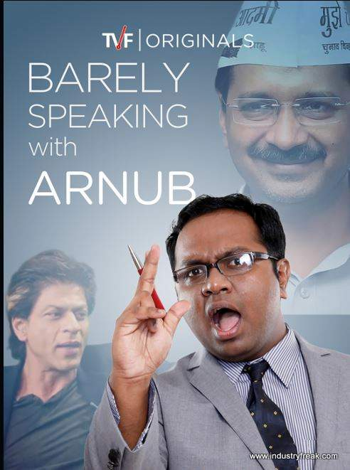 Barely Speaking with Arnub ranks no. 1 in the top 10 tvf series list.