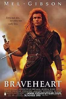 Brave Heart ranks 9th on the list of the top 31 war movies.