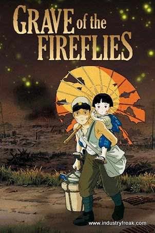 Grave of  the Fireflies ranks 4th on the list of the top 31 war movies.