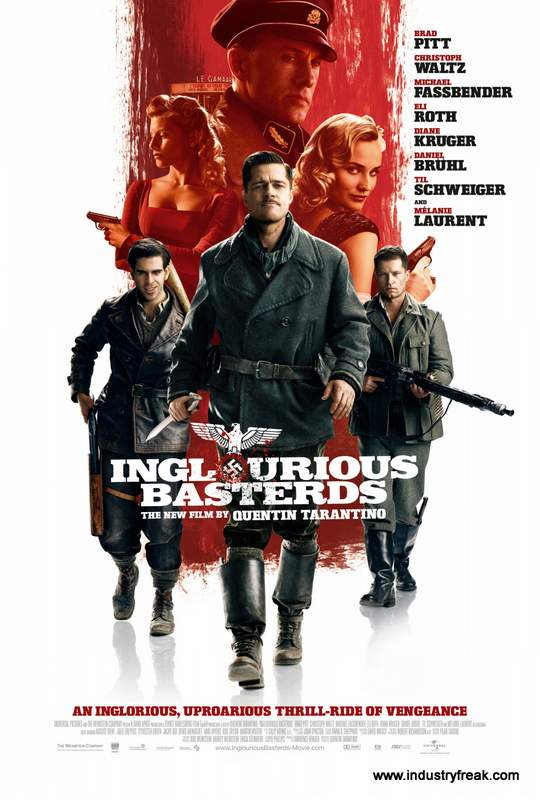 Inglourious Basterds ranks 11th on the list of the top 31 war movies.