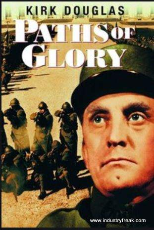 Paths of Glory ranks 7th on the list of the top 31 war movies.