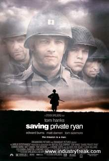 Saving Private Ryan ranks 3rd on the list of the top 31 war movies.