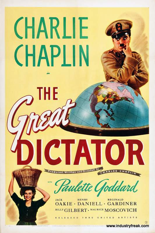 The Great Dictator ranks 5th on the list of the top 31 war movies.