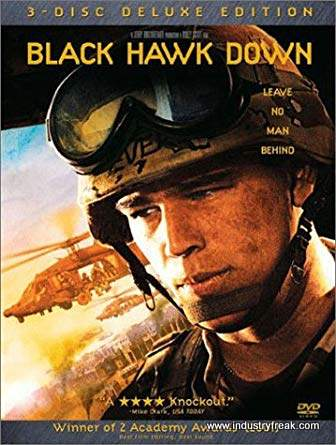 Black Hawk Down ranks 24th on the list of the top 31 war movies.