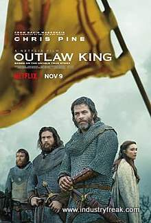 Outlaw King ranks 30th on the list of the top 31 war movies.