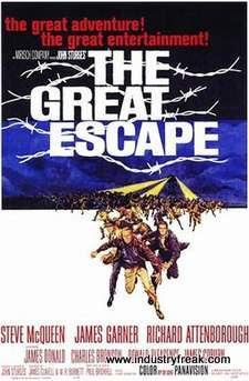 The Great Escape ranks 15th on the list of the top 31 war movies.