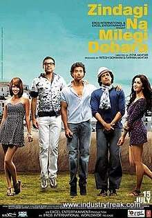 Zindagi Na Milegi Dobara ranks number 3 on the list of best travel movies