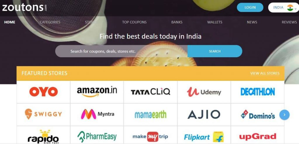 Zouton best indian Coupon Website