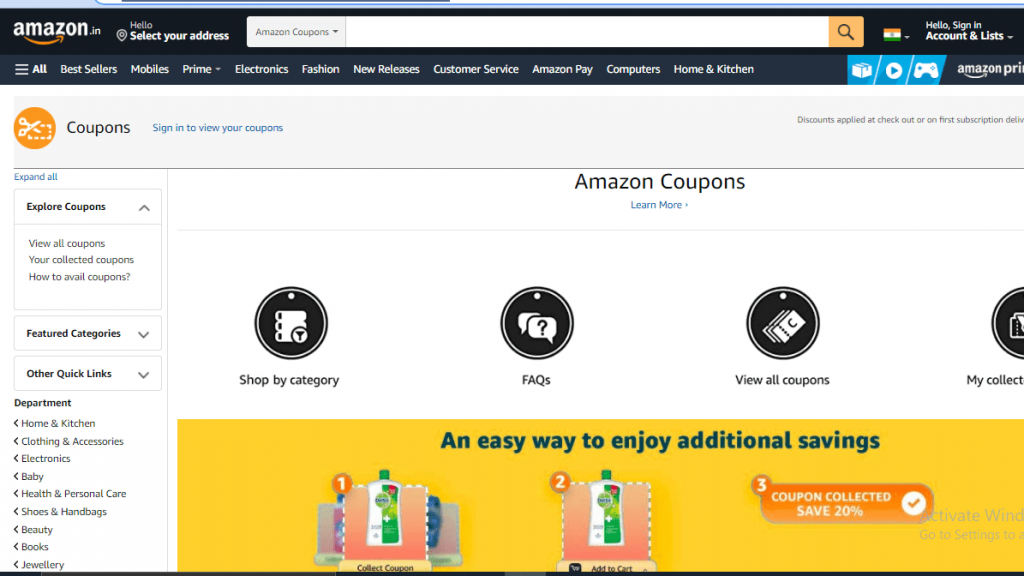best coupon website in india_amazon coupons